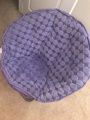 Purple polka dot saucer chair for Sale in Monrovia, MD