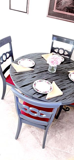 Luxury dining table and 4 soft cushion chairs for Sale in Delray Beach, FL