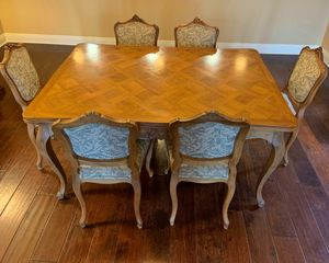 Louis XIV antique table and 6 chairs for Sale in Carlsbad, CA
