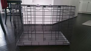 Black double door folding dog crate for Sale in Jessup, MD