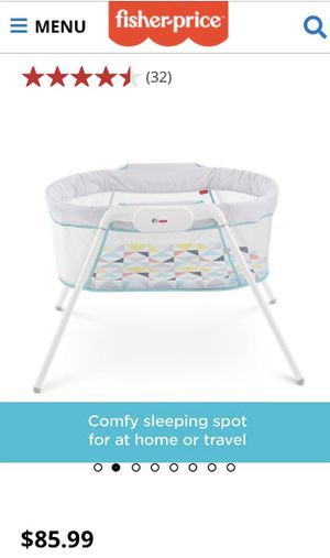 Fisher price stow 'n go bassinet for Sale in Phillips Ranch, CA