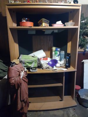 Brown Wooden Entertainment Center for Sale in Huber Heights, OH