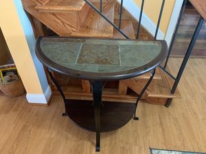Half moon console table. Normal wear. for Sale in Potomac Falls, VA