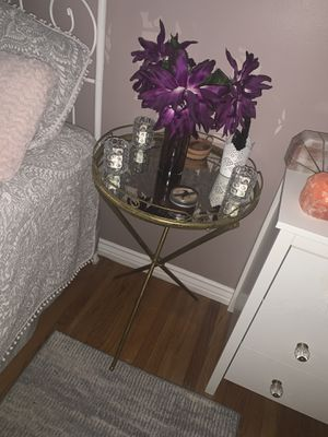 Word Market Gold mirror table night stand for Sale in Stanton, CA