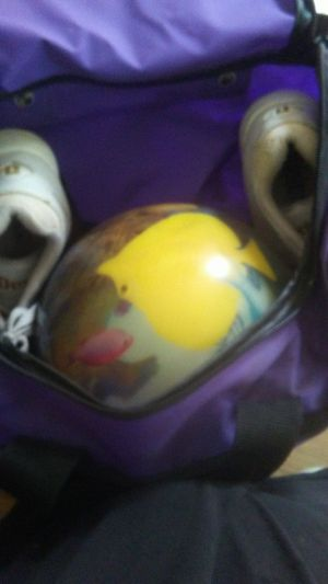 Bowling ball with bag and shoes for Sale in Rose Hill, KS