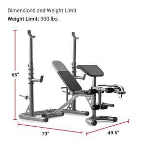 Wieder weight bench and rack for Sale in Hollister, CA