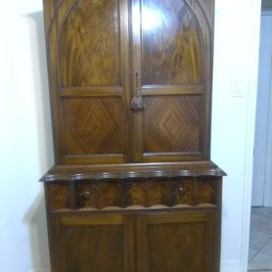 Antique Wood Armoire Desk Storage Cabinet for Sale in Houston, TX