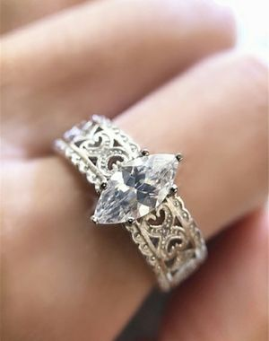 SONA Diamond (CZ) 925 Sterling Silver Wedding Ring Size 5-10 for Sale in Wichita, KS