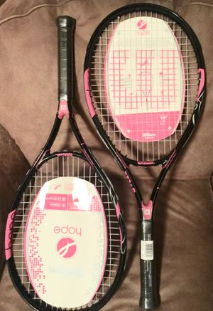 2 Adult Tennis Rackets. Cancer theme. Unused for Sale in Venetia, PA