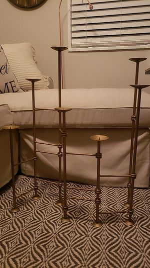 Gold Extendable Candle Holder for Sale in Baltimore, MD
