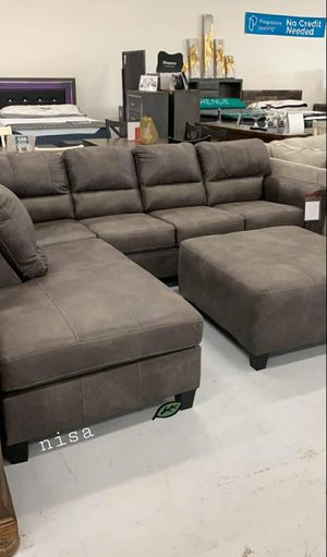 ➡️$39 Down 🍺No İNTEREST      Navi Chestnut RAF /LAF Sectional 159 for Sale in Elkridge, MD