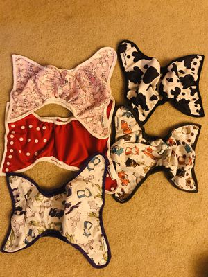 6 Cloth Diapers, Best Bottom covers, inserts, doublers for Sale in Los Angeles, CA