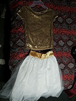 Girls XL shimmer shirt and hand made skirt. for Sale in Lakeland, FL