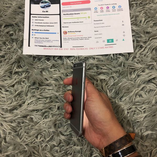 iPhone 6 100% feedbacks UNLOCKED 5 STARS