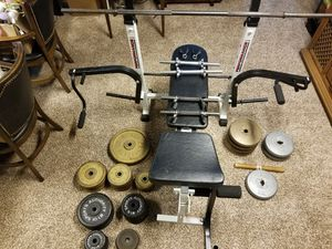Weight bench with weights for Sale in Festus, MO