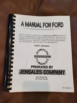 Ford Tractor Shop Manual for Sale in Eatonville, WA