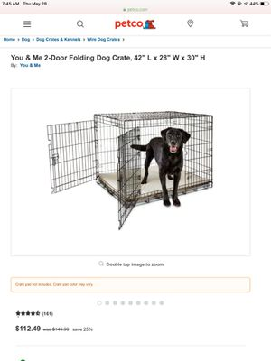 Xl large you & me folding dog crate/ cage for Sale in Indian Rocks Beach, FL