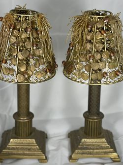 Duel Vintage Lamp Candle Holders (set) for Sale in Chalfont,  PA