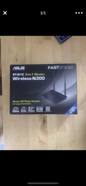 Asus router for Sale in Henderson, NV