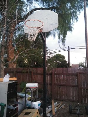 Basketball hoop with very tall pole for Sale in Riverside, CA