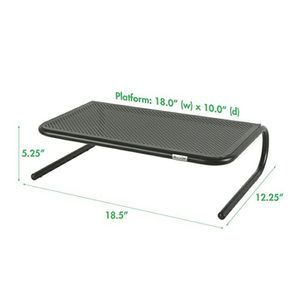 "Large 18"" Monitor Stand, Black for Sale in Dunwoody, GA"