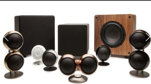 Orb audio speakers in black and copper for Sale in San Francisco, CA