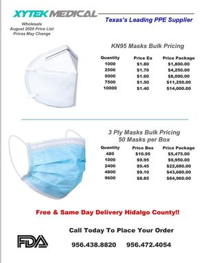PPE bulk sales in South Texas, 800K+ available for Sale in McAllen, TX