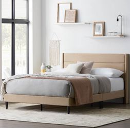 Twin XL upholstered platform bed frame with headboard - NEW for Sale in Taylor,  MI
