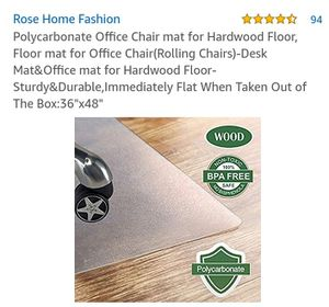 Office chair mat for hardwood floor for Sale in Plainfield, IN