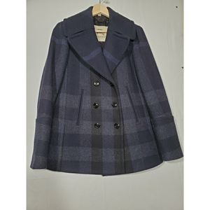 Burberry pea coat plaid women's for Sale in Seattle, WA