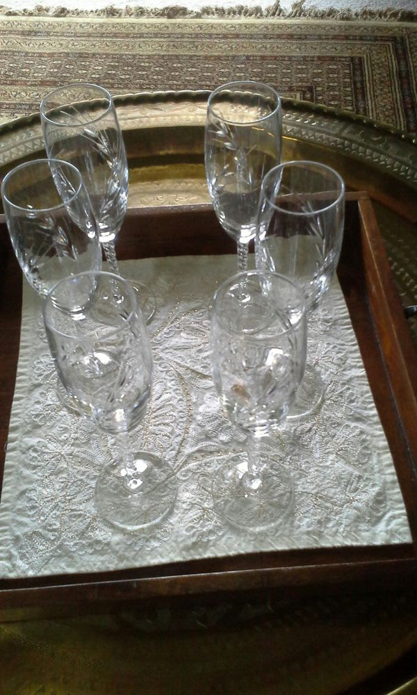Set French Crystal Champagne Flutes