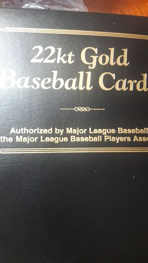 22k GOLD Baseball card for Sale in Miami Gardens, FL
