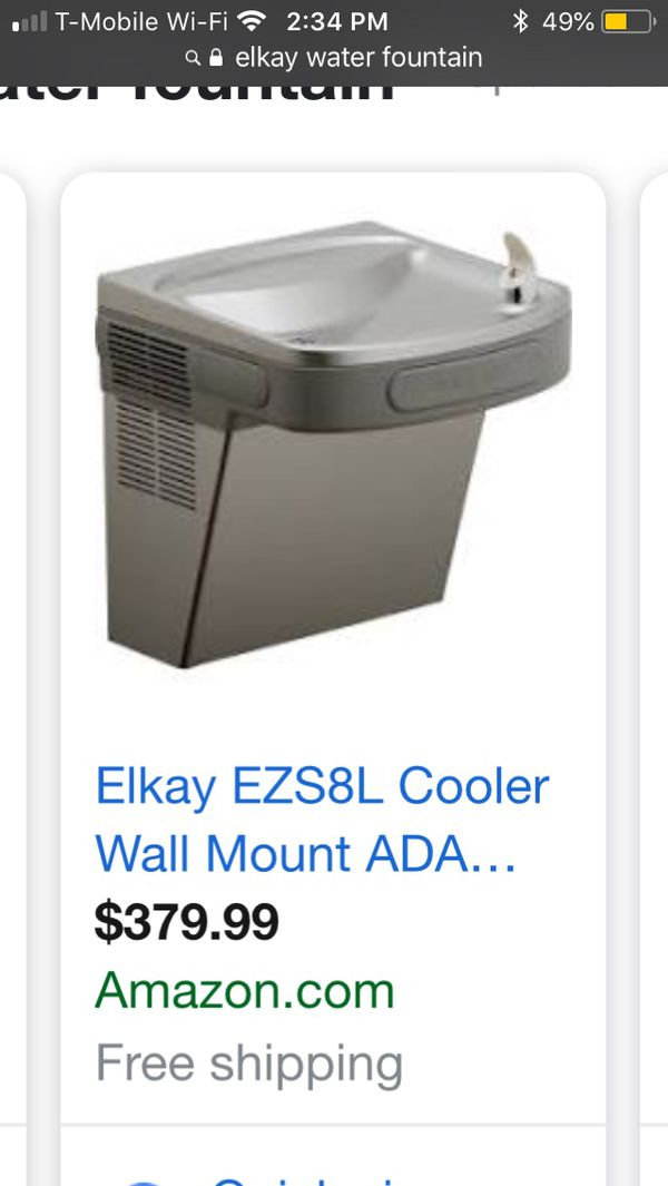 Elkay EZS8L Cooler Wall Mount ADA Non-Filtered, 8 GPH Light Gray Granite  for Sale in Orlando, FL - OfferUp