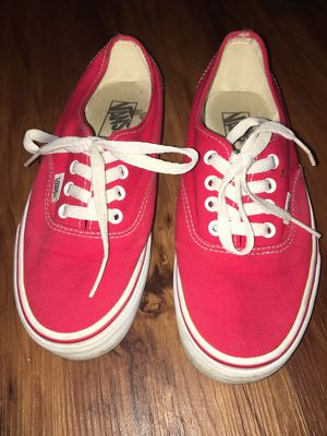Red Vans size 6 men women 7.5 for Sale in Bowie, MD
