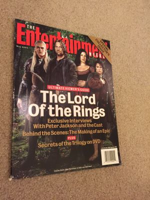 The lord of the rings entertainment weekly collectors issue for Sale in Tacoma, WA