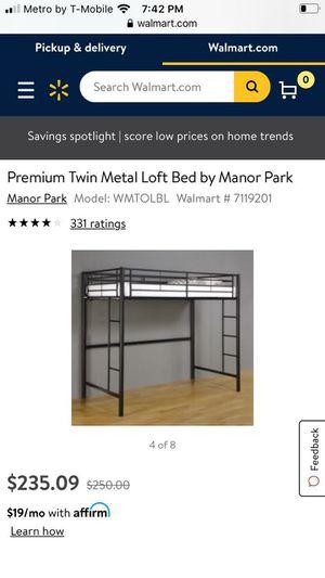 Twin loft bed for Sale in Oceanside, CA