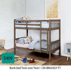 Bunk Bed Twin Over Twin for Sale in Long Beach,  CA