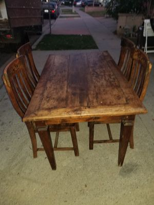 Vintage Farmhouse Table w/ 4 Chairs for Sale in Lake Forest, CA