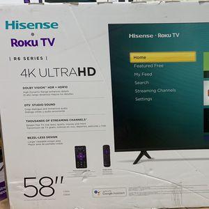"""BRAND NEW 58"""" HISENSE ROKU 4K SMART TV for Sale in Orange, CA"""