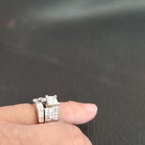 14 Kt Gold Diamond Ring 1.50 ct tw . In Ring 2.0 ct CZ main for Sale in Utica, MI