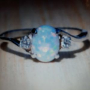 925 Sterling Silver Opal Ring, Size 7. for Sale in Dallas, TX