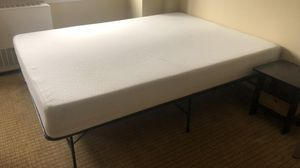 Bed! Moving out need to sell ASAP! Queen memory mattress in great conditions, I will throw the bed frames for free! Pick up only! for Sale in Rochester, NY