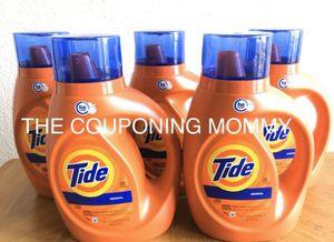 Household Laundry Detergent Bundle w/ HE Liquid Tide (( 5 bottles )) for Sale in Clovis, CA