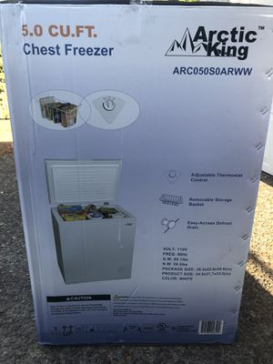 New Arctic King 5cu Ft Chest Freezer for Sale in Portland, OR