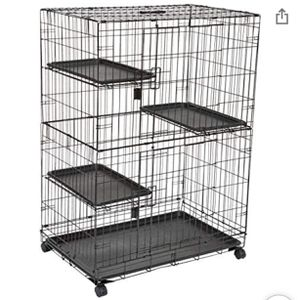 Large 3-Tier Cat Cage Playpen Box Crate Kennel - 36 x 22 x 51 Inches, Black. for Sale in Discovery Bay, CA