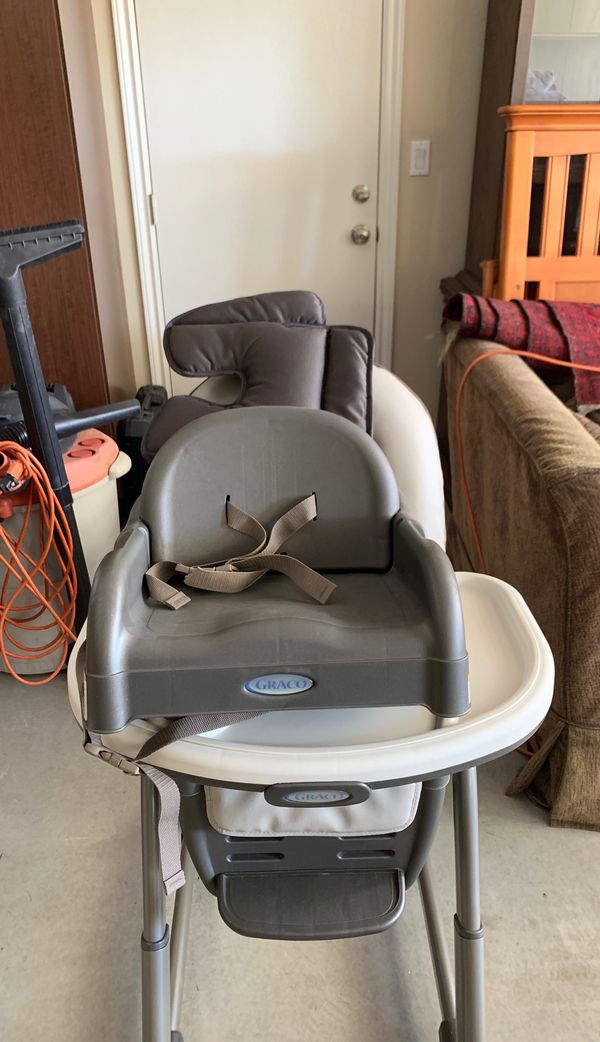 High chair with booster seat