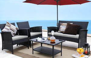 Outdoor patio furniture || Black (pick up only$ for Sale in San Bernardino, CA