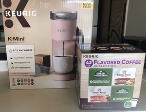 New Pink K-Mini with 42 Flavored K-Cups for Sale in Amarillo, TX