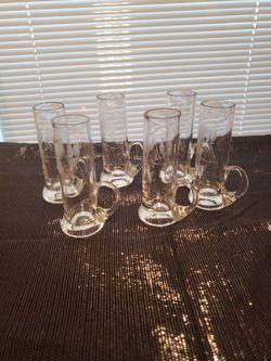 Vintage Crystal Aperitif/ Cordial Shot Glasses With Handles for Sale in San Antonio,  TX