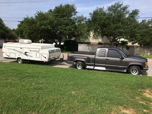 1992 Silverado y 2002 pop camper for Sale in Fort Worth, TX